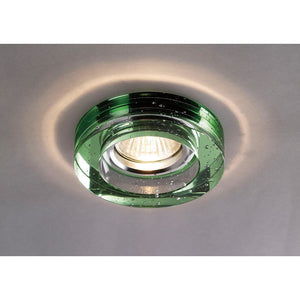 Dark Slate Gray Diyas IL30831GR Crystal Bubble Downlight Round Rim Only Green, IL30800 Required To Complete The Item
