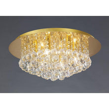 Load image into Gallery viewer, Tan Deco D0005 Dahlia Flush Ceiling, 450mm Round, 6 Light G9 Crystal French Gold