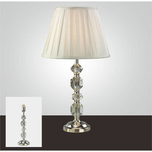 White Smoke Diyas IL11004 Dana Crystal Table Lamp Without Shade 1 Light Silver Finish diyas-il11004-dana-crystal-table-lamp-without-shade-1-light-silver-finish Dana