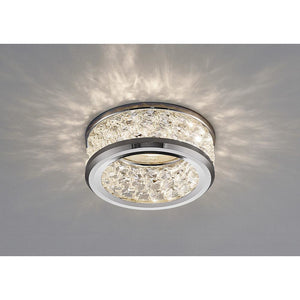 Gray Diyas IL30835CH Dante GU10 Downlight With 3 Levels Of Crystal Beads Polished Chrome/Clear