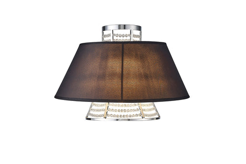 Dark Olive Green Diyas IL30054/BL Davina Wall Lamp With Black Shade 2 Light Polished Chrome/Crystal