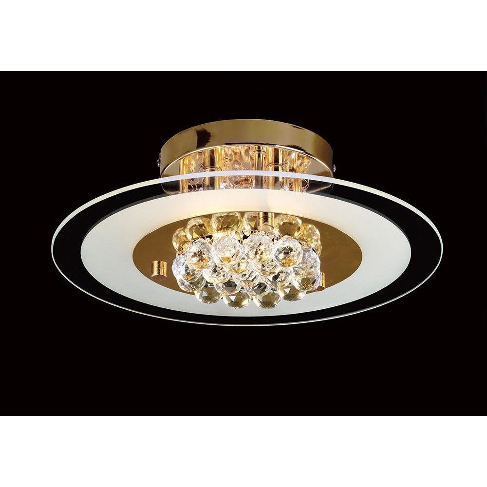 Tan Diyas IL32021 Delmar Flush Round 4 Light French Gold/Glass/Crystal diyas-il32021-delmar-flush-round-4-light-french-gold-glass-crystal Delmar
