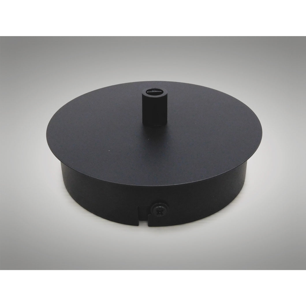 Dark Slate Gray Deco D0382 Dreifa Ceiling Box Matt Black, c and w Cable Grip, Earth Wire & 3 Pole Terminal Block
