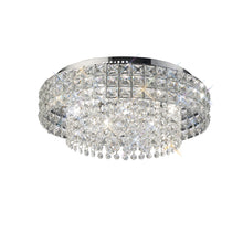 Load image into Gallery viewer, Gray Diyas IL31151 Edison Ceiling Round 7 Light Polished Chrome/Crystal diyas-il31151-edison-ceiling-round-7-light-polished-chrome-crystal Edison