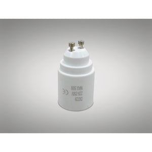 Light Gray Deco D0229 Deco Elements GU10 to E27 Lamp Socket Converter Maximum Wattage 50W