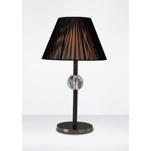 Black Diyas IL30590 Elena Table Lamp 1 Light Without Shade Black Chrome/Crystal diyas-il30590-elena-table-lamp-1-light-without-shade-black-chrome-crystal Elena