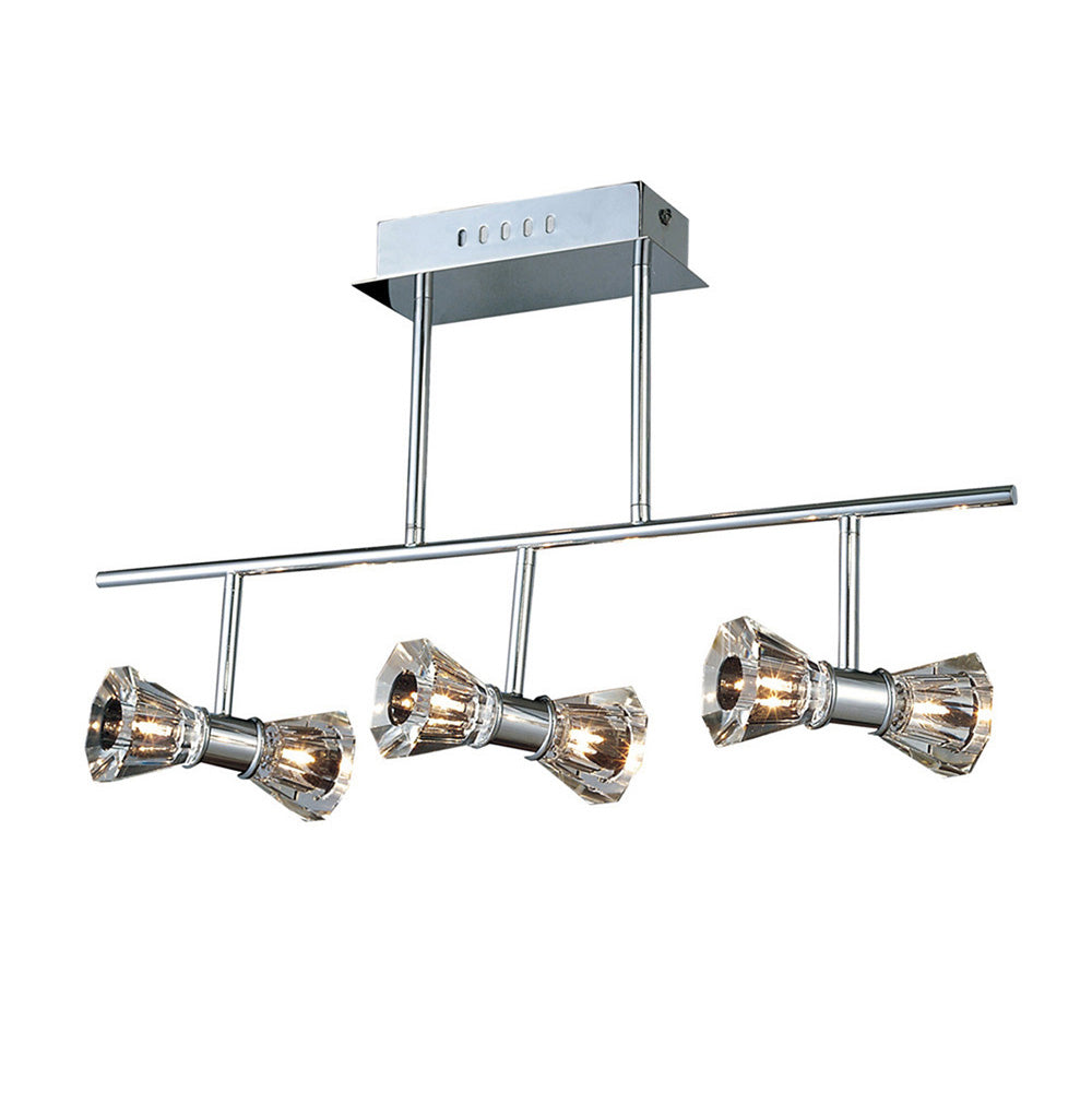 White Smoke Diyas IL50337  Elisa Semi Ceiling Bar 6 Light Polished Chrome