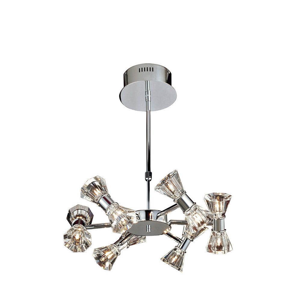 Gray Diyas IL50339  Elisa Pendant Round 12 Light Polished Chrome diyas-il50339-elisa-pendant-round-12-light-polished-chrome Elisa