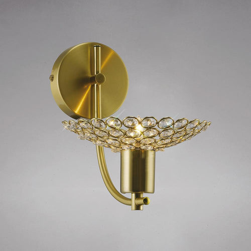 Sienna Diyas IL20600 Ellen Wall Lamp 1 Light Satin Brass/Crystal diyas-il20600-ellen-wall-lamp-lamp-1-light-satin-brass-crystal Ellen