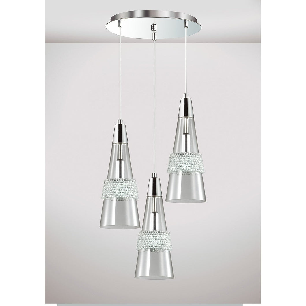 Light Gray Diyas IL31607 Emilia Pendant 3 Light E14 Round Polished Chrome/Crystal diyas-il31607-emilia-pendant-3-light-e14-round-polished-chrome-crystal Emilia