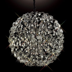 Dark Olive Green Diyas IL30557 Esme Pendant 54 Light Polished Chrome/Crystal diyas-il30557-esme-pendant-54-light-polished-chrome-crystal Esme