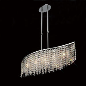 Rosy Brown Diyas IL30574 Fabio Telescopic Pendant Bar 5 Light Polished Chrome/Crystal