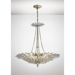 White Smoke Diyas IL31672 Fay Pendant 6 Light E14 Aged Gold/Silver/Crystal
