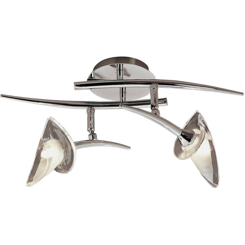 Gray Mantra M0316 Flavia Spot 2 Light G9 With Adjustable Heads, Polished Chrome