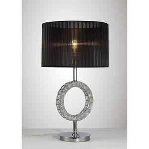 Dark Slate Gray Diyas IL31724 Florence Round Table Lamp With Black Shade 1 Light Polished Chrome/Crystal diyas-il31724-florence-round-table-lamp-with-black-shade-1-light-polished-chrome-crystal Florence