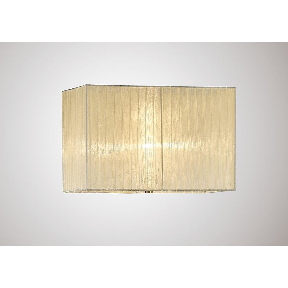 Tan Diyas ILS31533 Florence Rectangle Organza Shade, 400x210x260mm Cream, For Floor Lamp diyas-ils31533-florence-rectangle-organza-shade-400x210x260mm-cream-for-floor-lamp Florence