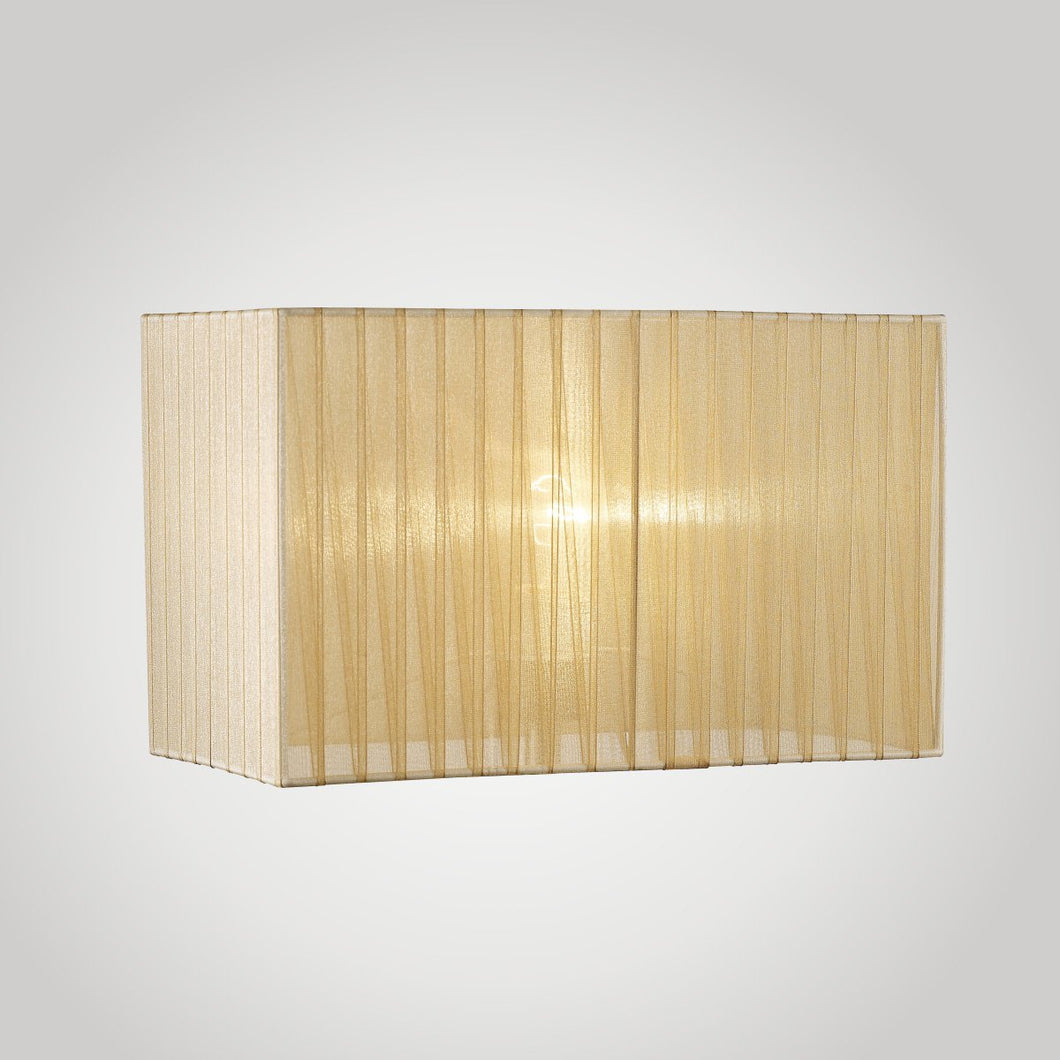 Tan Diyas ILS31723 Florence Rectangle Organza Shade, 400x210x260mm, Soft Bronze, For Floor Lamp diyas-ils31723-florence-rectangle-organza-shade-400x210x260mm-soft-bronze-for-floor-lamp Florence
