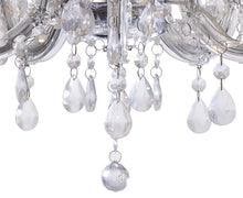 Load image into Gallery viewer, White Smoke Deco D0417 Floria Chandelier With Acrylic Sconce & Acrylic Droplets 5 Light E14 Polished Chrome Finish deco-d0417-floria-chandelier-with-acrylic-sconce-acrylic-droplets-5-light-e14-polished-chrome-finish