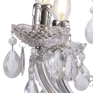 Dark Gray Deco D0418 Floria Chandelier With Acrylic Sconce & Acrylic Droplets 6+3 Light E14 Polished Chrome Finish deco-d0418-floria-chandelier-with-acrylic-sconce-acrylic-droplets-6-3-light-e14-polished-chrome-finish