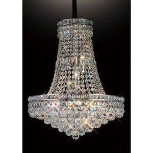 Rosy Brown Diyas IL31420 Frances Pendant 14 Light Polished Chrome/Crystal