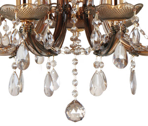 Dark Slate Gray Deco D0023 Gabrielle Chandelier With Acrylic Sconce & Glass Droplets 8 Light E14 Mink Finish deco-d0023-gabrielle-chandelier-with-acrylic-sconce-glass-droplets-8-light-e14-mink-finish