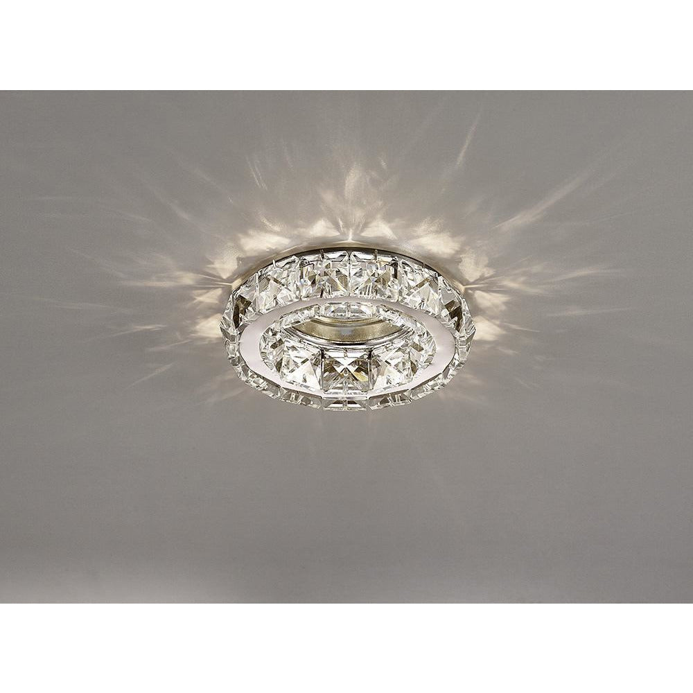 Rosy Brown Diyas IL30836CH Galaxy GU10 Round Downlight Polished Chrome/Crystal