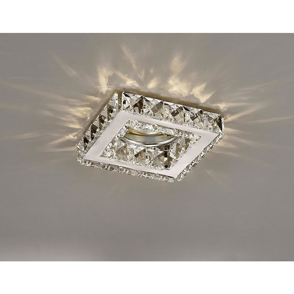 Rosy Brown Diyas IL30837CH Galaxy GU10 Square Downlight Polished Chrome/Crystal