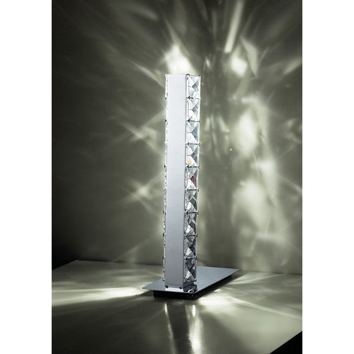 Dim Gray Diyas IL70040  Galaxy Table Lamp 3W LED 6000K Polished Chrome/Crystal