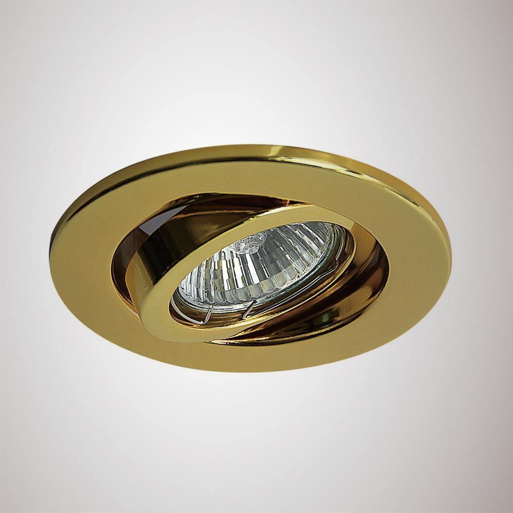 Dark Khaki Deco D0033 Hudson GU10 Adjustable Downlight Gold (Lamp Not Included)
