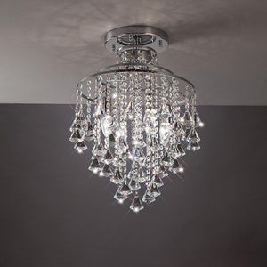 Dark Gray Diyas IL30770 Inina Ceiling 4 Light Polished Chrome/Crystal