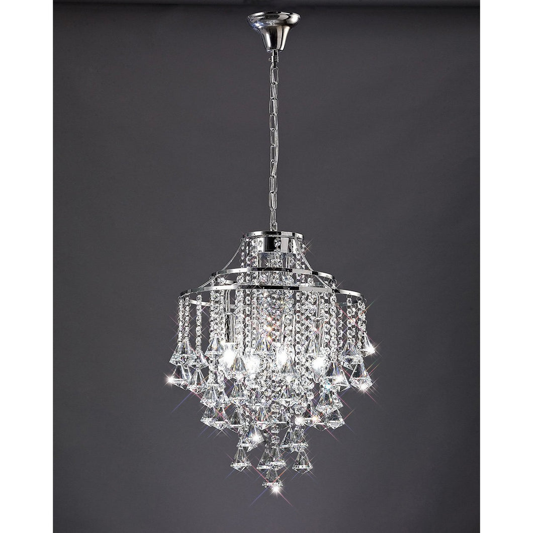 Dark Slate Gray Diyas IL30771 Inina Pendant 4 Light Polished Chrome/Crystal diyas-il30771-inina-pendant-4-light-polished-chrome-crystal Inina
