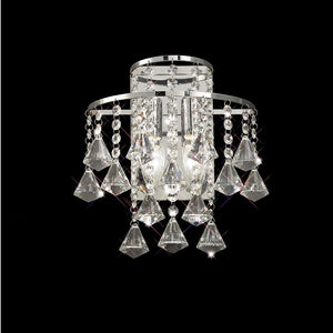 Gray Diyas IL30774 Inina Wall Lamp Switched 2 Light Polished Chrome/Crystal