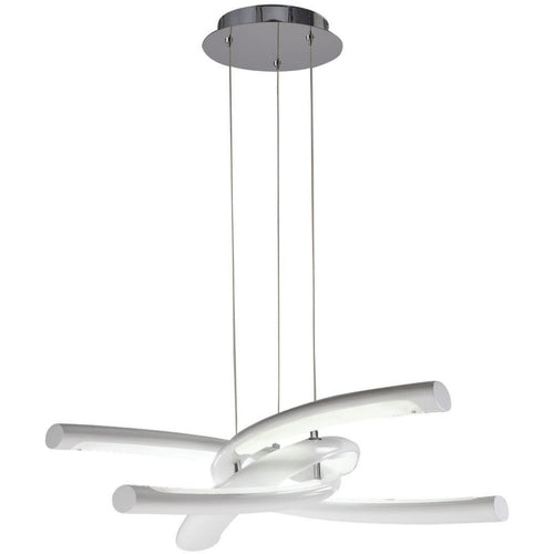 White Smoke Mantra  M3970 Knot Pendant 36W LED 3000K, 3600lm, Gloss White/White Acrylic/Polished Chrome, 3yrs Warranty