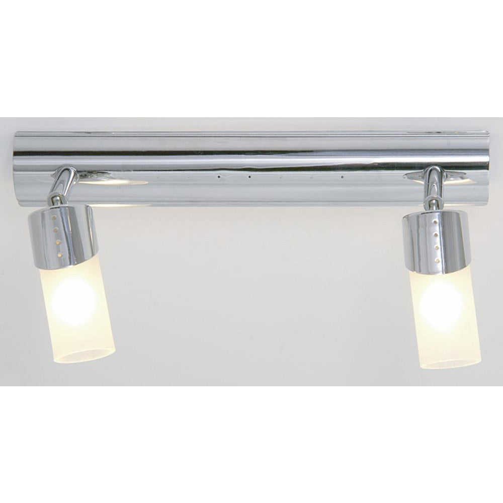 Light Gray Diyas IL20141  Kopus Ceiling 2 Light Polished Chrome/Frosted Glass