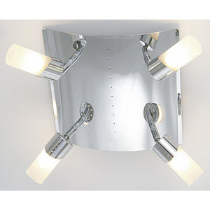 Dark Gray Diyas IL20142  Kopus Ceiling 4 Light Polished Chrome/Frosted Glass