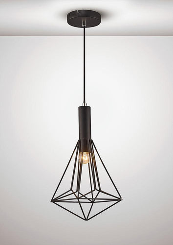 White Smoke Deco D0140 Kristoff Single Pendant 1 Light E27 Black deco-d0140-kristoff-single-pendant-1-light-e27-black