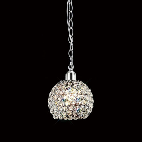 Gray Diyas IL60004 Kudo Ball Shade Non-Electric Polished Chrome/Crystal