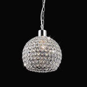 Dark Gray Diyas IL60007 Kudo Crystal Ball Shade Non-Electric Polished Chrome/Crystal
