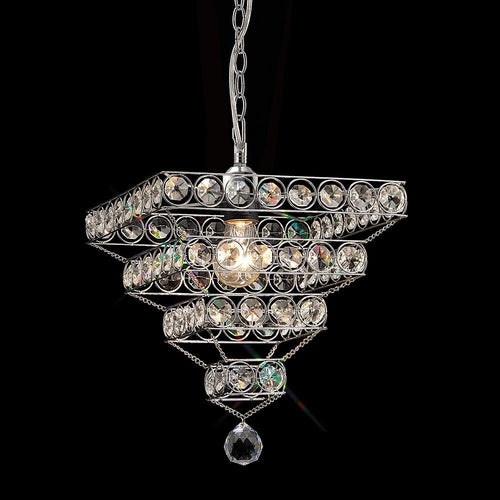 Dim Gray Diyas IL60017  Kudo Crystal Pyramid Shade Non-Electric Polished Chrome/Crystal
