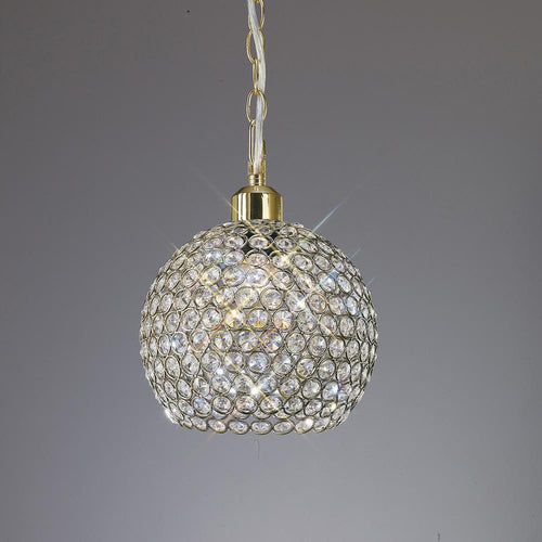 Dark Gray Diyas IL60032 Kudo Crystal Ball Shade Non-Electric Antique Brass/Crystal