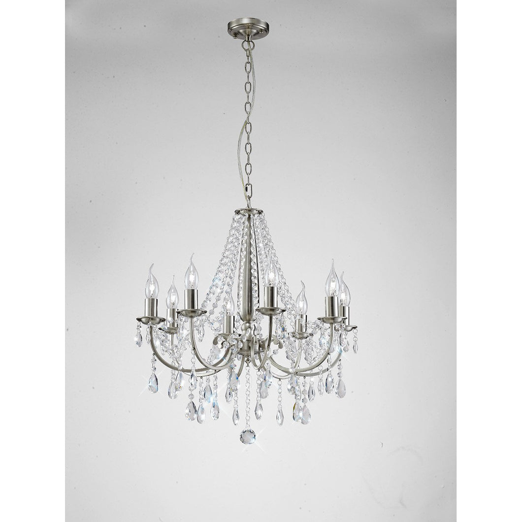 Light Gray Diyas IL30978 Kyra Pendant 8 Light Satin Nickel/Crystal diyas-il30978-kyra-pendant-8-light-satin-nickel-crystal Kyra
