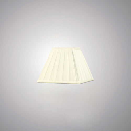 Beige Diyas ILS20226 Leela Square Pleated Fabric Shade Ivory 100/200mm x 156mm