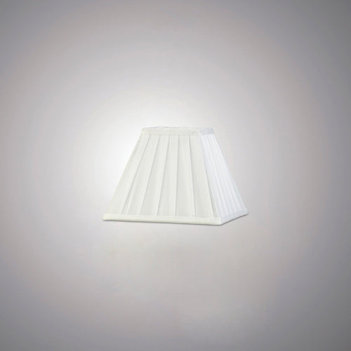Beige Diyas ILS20231 Leela Square Pleated Fabric Shade White 100/200mm x 156mm