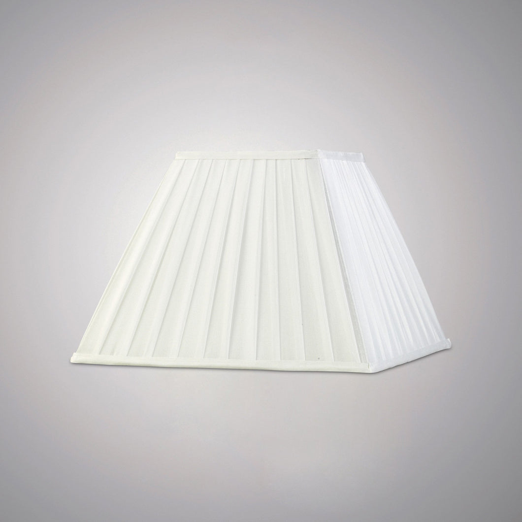 Beige Diyas ILS20234 Leela Square Pleated Fabric Shade White 175/350mm x 250mm diyas-ils20234-leela-square-pleated-fabric-shade-white-175-350mm-x-250mm Leela
