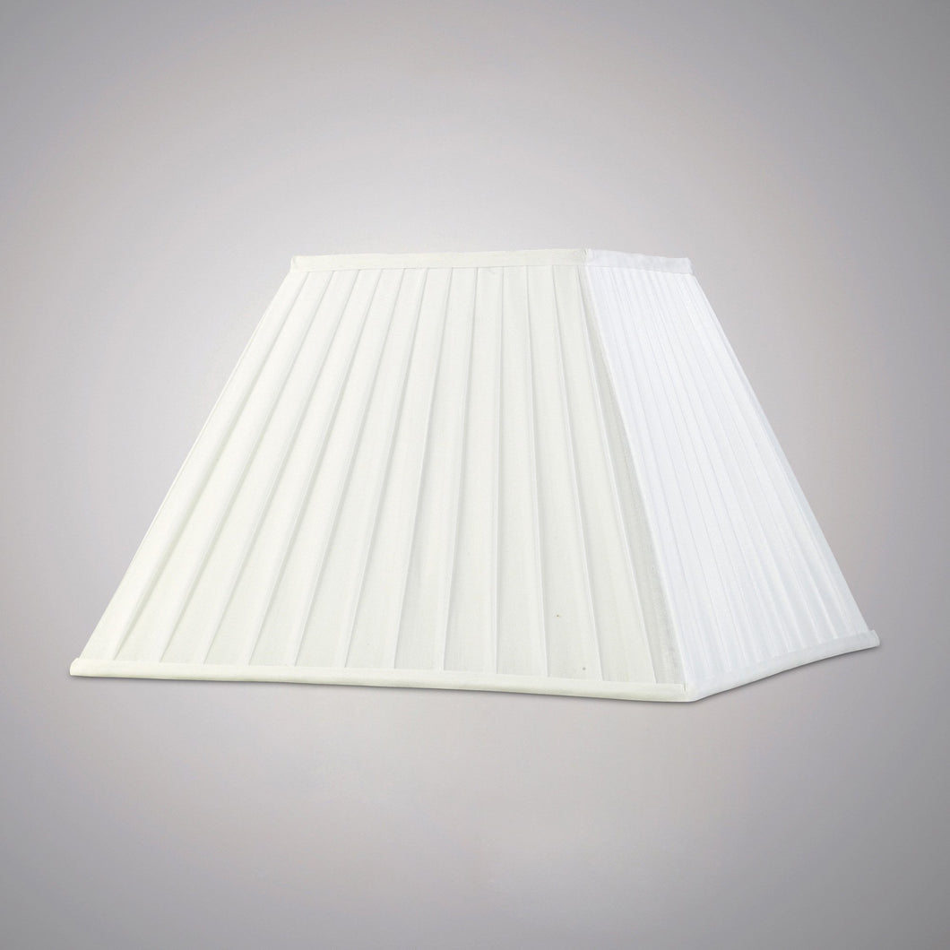 Beige Diyas ILS20235 Leela Square Pleated Fabric Shade White 200/400mm x 275mm diyas-ils20235-leela-square-pleated-fabric-shade-white-200-400mm-x-275mm Leela