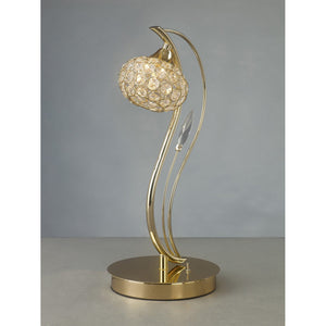 Dark Gray Diyas IL30969 Leimo Table Lamp 1 Light French Gold/Crystal