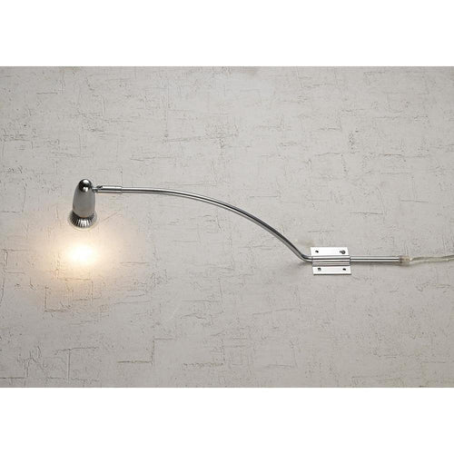 Gray Deco D0209 Lex  Over Cabinet 1 Light GU10 With Adjustable Head And 2m Cable c and w BS Plug Polished Chrome