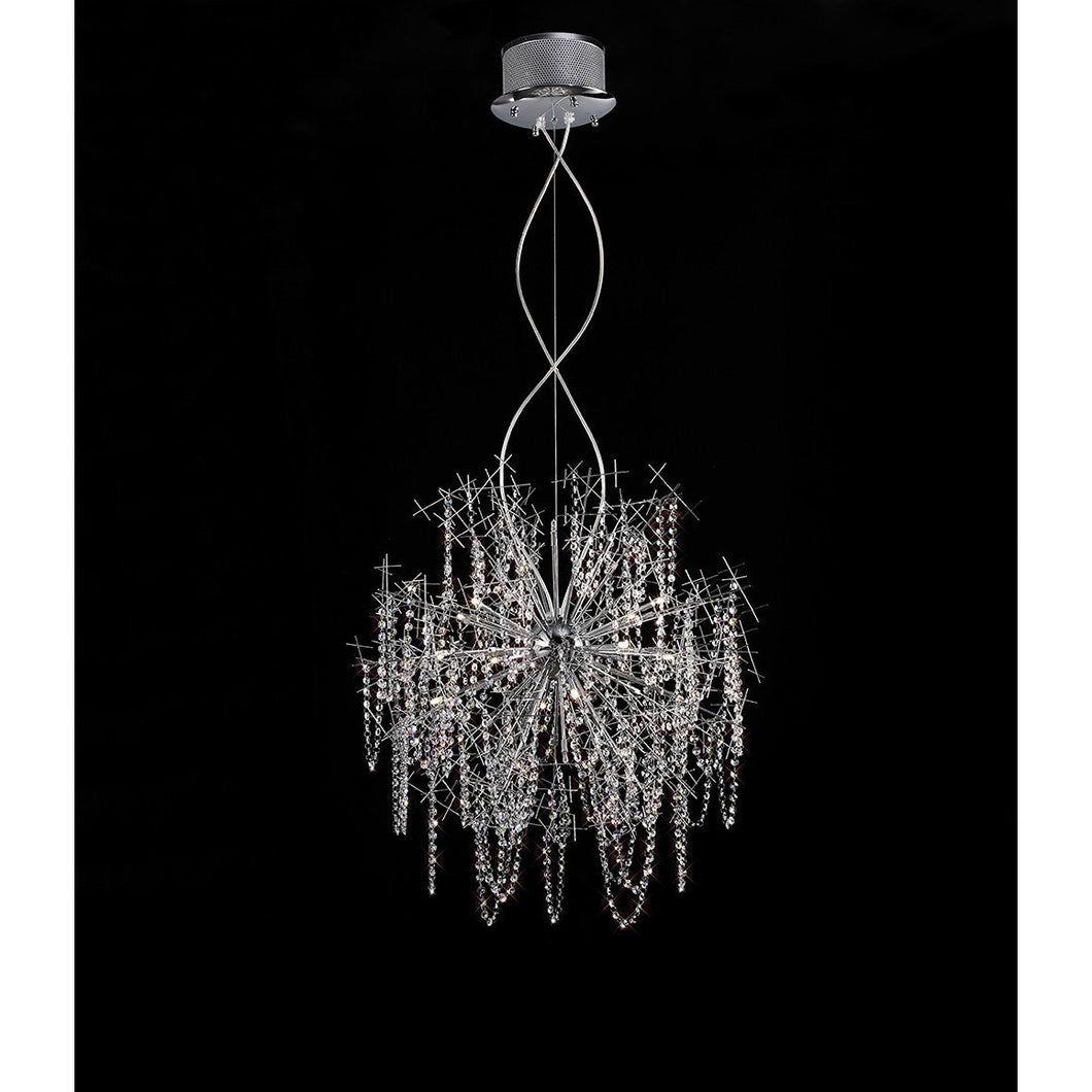Black Diyas IL30543 Lexi Pendant 15 Light Polished Chrome/Crystal