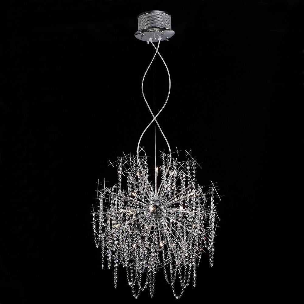 Black Diyas IL30544  Lexi Pendant 22 Light Polished Chrome/Crystal