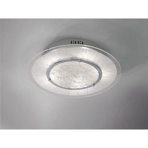 Gray Diyas IL31311 Lindon Ceiling Round 5 Light Polished Chrome/Glass/Crystal